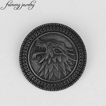 Game Of Thrones Stark Brooch Song Of Ice And Fire Vintage Antique Dire Wolf Shield Pin Brooches For Women Fashion Accessories(China)