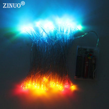 ZINUO 4M 40LEDs New Year Lights Garland 3 AA Battery Christmas Outdoor Decoration LED Fairy String Light for Wedding Party Light