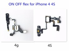 10pcs/lot NEW Power ON OFF Flex For iPhone 4 4S Light Sensor Proximity Flex Cable Ribbon Cell Phone Repair Parts Wholesale