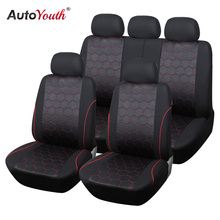 AUTOYOUTH Soccer Ball Style Jacquard Full Car Seat Covers Set Universal Fit Most Car Covers Interior Accessories Seat Covers