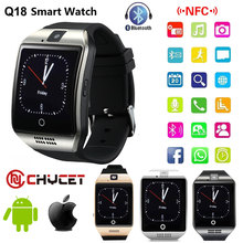 2017 Bluetooth Smart Watch Q18 Smartwatch Support NFC SIM Card GSM Video camera Support Android/IOS Smart Phone PK GT08 DZ09 U80(China)