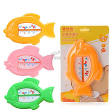 Floating Fish Lovely Plastic Float Toy Baby Bath Tub Water Sensor Thermometer(China)