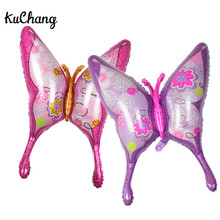 36inch Pink Purple Butterfly Foil Balloons Birthday Party Butterfly Animal Helium Globos Decor Children's Toys Balloon Supplies
