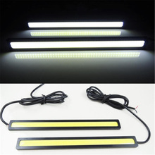 2Pcs/Set Ultra Bright Waterproof Car Auto DRL Driving Daytime Running Lamp Fog Light White Black 12V LED COB DIY