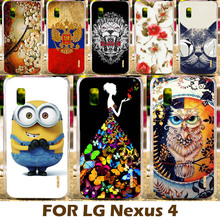 DIY Painting Design Hard Plastic Case For LG Google Nexus 4 E960 4.7 Inch Nexus4 Cell Phone Cover Protective Sleeve Para Shell