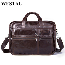 WESTAL Genuine Leather Men Bags Fashion Man Crossbody Shoulder Handbag Men Messenger Bags Male Briefcase Men's Travel Bag 8893(China)