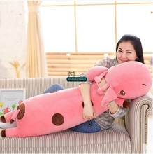Dorimytrader 120cm Large Lovely Animal Giraffe Plush Doll Stuffed Soft Large Giraffe Pillow Kids Toy Christmas Present DY61384(China)