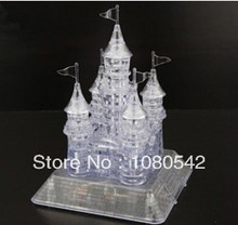 Crystal DIY Flash Music Castle 3D Puzzle hot toys Educational funny toys puzzles for children