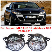 For Renault MEGANE 3 Hatchback BZ0  2008-2015 Fog Lamps LED Car Styling 10W Yellow White 2016 new lights