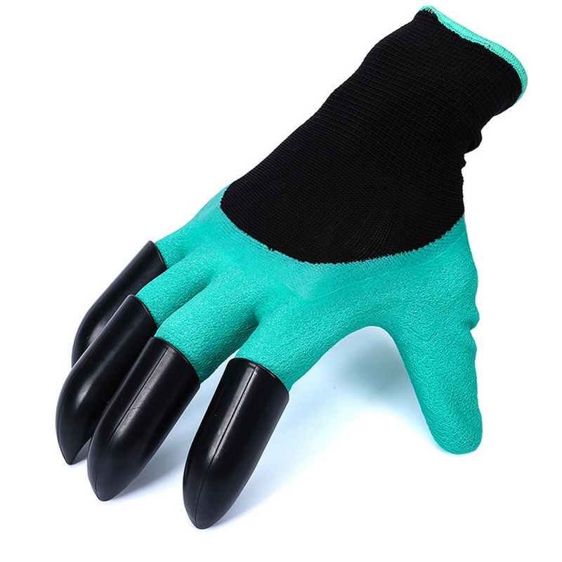 Garden Gloves Garden Gloves 4 Hand Claw Abs Plastic Rubber Gloves Quick Excavation Plant Waterproof Insulation Home Living Essential Gadgets Reputation First