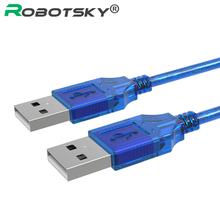 Robotsky USB 2.0 Type A Male to Male Cable Data Transfer USB2.0 Extension Cord 1FT 5FT 10FT For Radiator, Car Speaker, Hard Disk