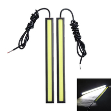 2Pcs Car-styling LED Daytime Running Light Bar Automotive COB Driving Lamp Automobiles White DRL Fog Lamp Strip 17cm 12V
