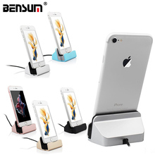 New Design Charger Docking Stand Station Cradle Charging Sync Date for iPhone 7 6 6S 6Plus 5S 5 5C 4 colors for Samsung V8 dock