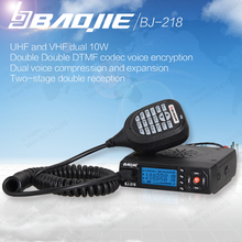 BaoJie BJ-218 Car Walkie Talkie Radios Comunicador Long Range Mini Mobile Radio Transceiver VHF/UHF Ham CB Radio(China)
