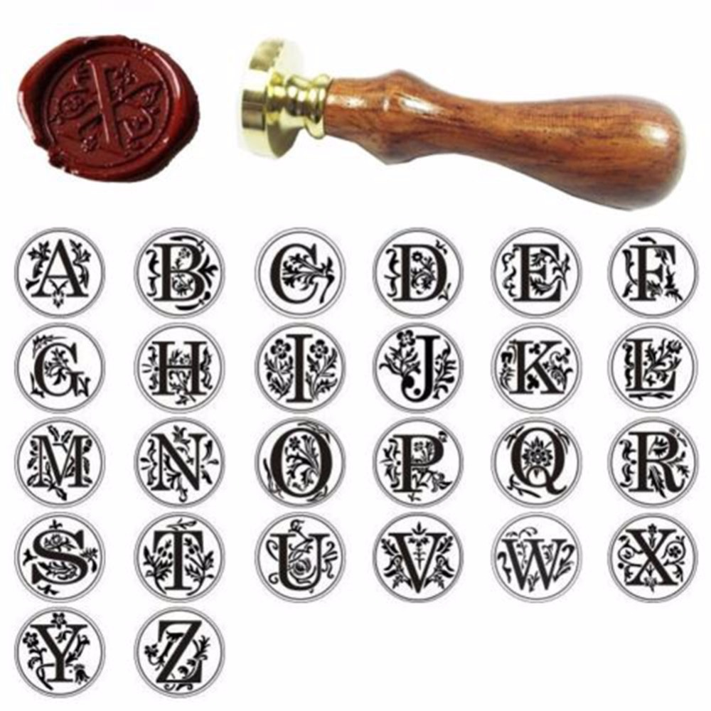 1pcs Classic Alphabet Initial Sealing Wax Seal Stamp Invitations Gift Letter Stamping Tools Post Decorative New<br><br>Aliexpress