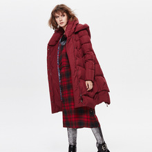 The long winter jacket, 2016 European high-end fashion a thickened slim slim size coat(China)