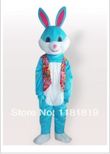 MASCOT BLUE Easter Bunny Rabbit mascot costume custom fancy costume cosplay mascotte fancy dress(China)