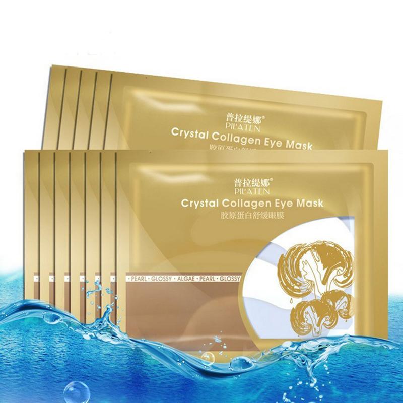 5Pairs Collagen Crystal Eye Mask Collagen Eye Patch Under Eye Dark Circle Remover Pilaten Gold Mask Moisturizing Anti-Puffiness 12