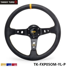 Tansky - 350MM PVC Racing Aluminum Frame Light Weight 6-Hole Steering Wheel Modified Jdm Sport (Yellow Red Blue)TK-FXP05OM-P(China)