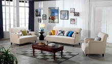 Contemporary Modern Storage Velvet Fabric Sofa Beige living room sofa set 1+2+3 made in China(China)