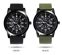 OTEX fashion canvas sports big dial watches men burst models military quartz watch.(China)