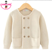 Campure Baby Boys Girl Knitted Sweater New 2017 Boys Sweaters Clothing Autumn Baby Wear Brand Kids Boy Winter Cardigan Sweaters