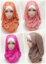 2016 Cheap Fashion Summer Style Vevelt Chiffon Scarf,Uneven Mantillas Ladies Silk hijabs,180*70cm Beach Towels,Bandanas Shawls(China)