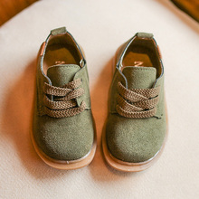 2017 Autumn Kids Shoes Boys PU Leather Shoes Fashion Girls Boy Casual Shoes Retro Flat Soft Baby Toddler Shoes Children Sneakers