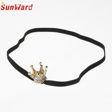 SunWard Good Deal  New kids Girl Crown Hair Accessories For Girls  Elastic Rhinestone Headband Hair Band Christmas Gift 1PC