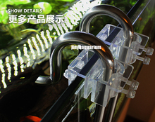 Lily glass pipe holder fix inflow outflow 13mm 17mm arcylic aquarium water plant fish tank landscape filter accessory