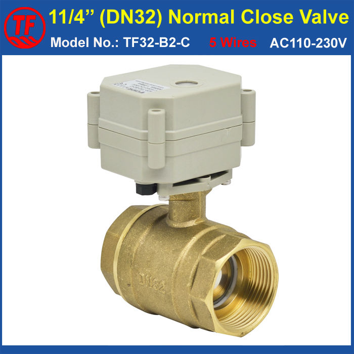 AC110V-230V 5 Wires Normal Close Valve With Signal Feedback 2 Way Brass 11/4 DN32 Actuated Ball Valve High Quality CE, IP67<br><br>Aliexpress