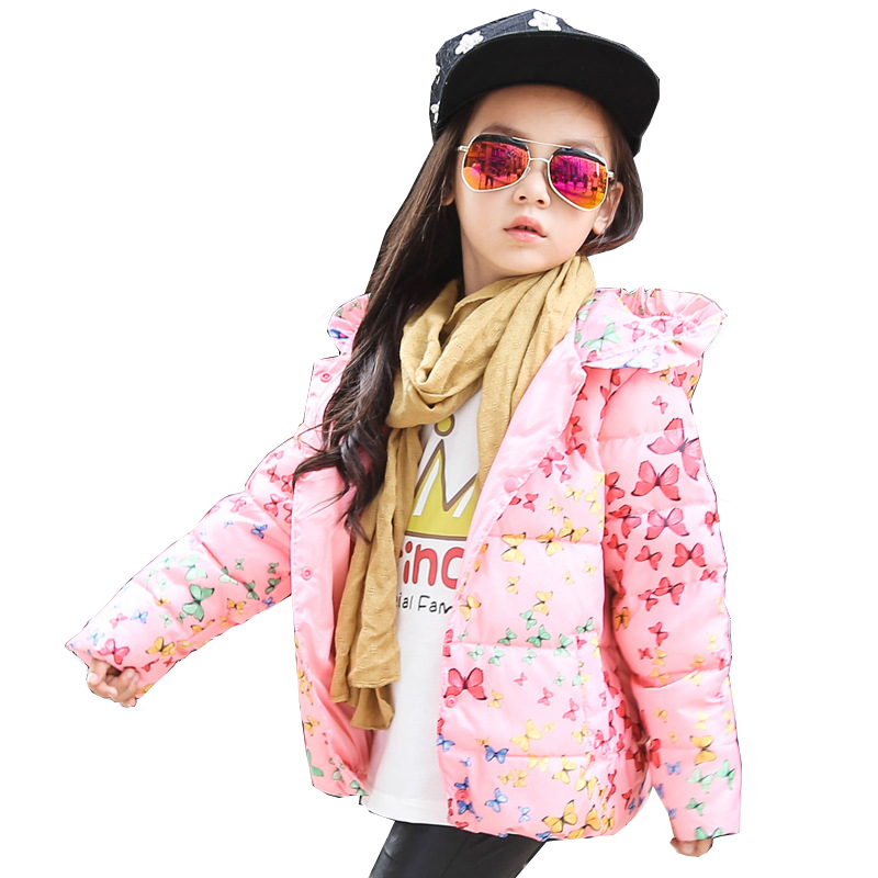 2-8Y Kids baby jackets girl down coat Warm Cartoon Winter Outerwear Coats Down Parkas Jacket Child ClothesОдежда и ак�е��уары<br><br><br>Aliexpress