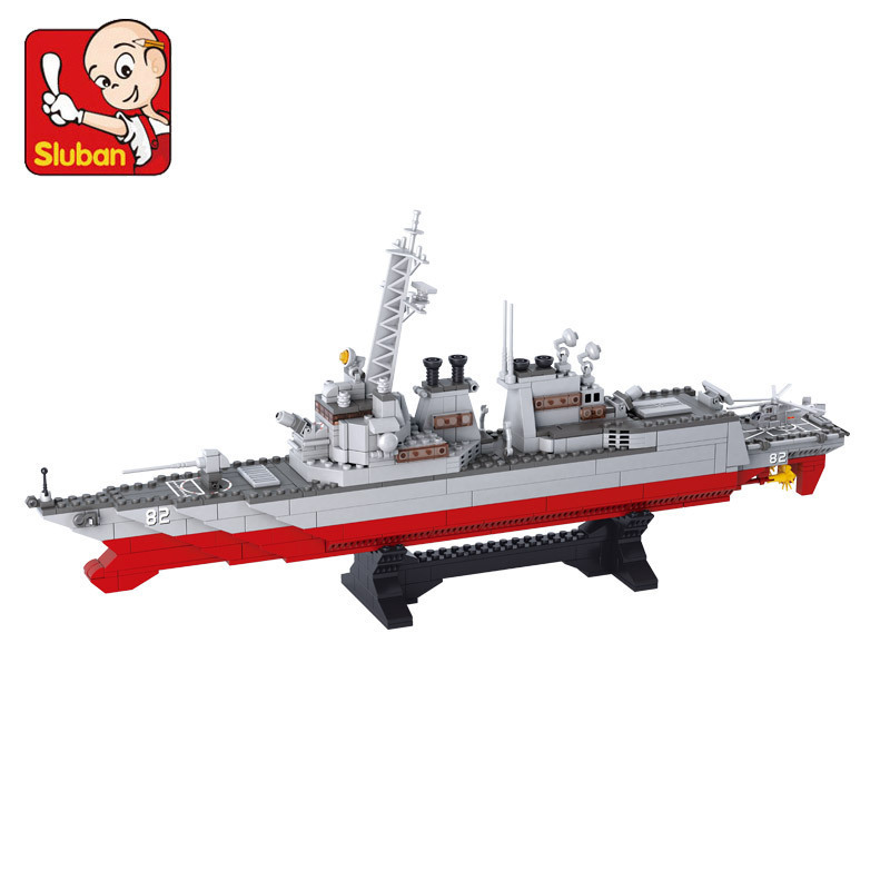 model building kits compatible with lego city warship 650 3D blocks Educational model &amp; building toys hobbies for children<br>