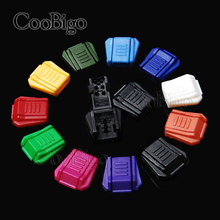 10pcs Pack Colorful Zipper Pull Cord Ends Paracord & Cord Tether Tip Cord Lock Plastic 11 Colors For Pick #FLS022(Mix-s)(China)