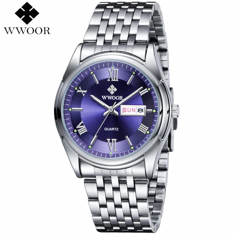 FOTINA Brand WWOOR Watch Men Day Date Stainless Steel Relojes Dress Men Clock Quartz Sport Luminous Watch Relogio Masculino<br><br>Aliexpress
