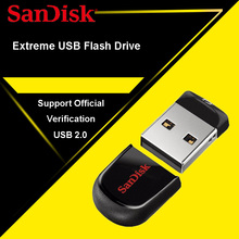 SanDisk CRUZER FIT USB Flash Drive 32GB USB Stick CZ33 64GB 16GB 8GB Pen Drives 2.0 PenDrives 32G Support Official Verification(China)
