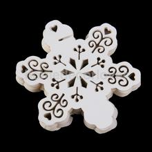 50Pcs Wine Glass Place Card Snowflake Ornaments Wedding Christmas Decoration