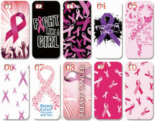 Wholesale lot Breast Cancer Plastic Hard Cell Phone Cover For iphone 4S 5 5S SE 5C 6 6S 7 Plus For iPod Touch 4 5 6 Mobile Case(China)