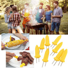 5Pcs New BBQ Corn Fork Holders Barbecue Bbq Tools Grill Accessories Hot Dog Plate Fork Safe Fruit Tools