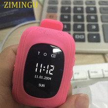 ZIMINGU kids GPS tracking watch wristband clock GPS APGS LBS three way location one key SOS for help protect your baby PK Q100