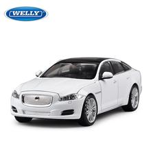 New Large Simulation Alloy Car Wholesale toys Welly alloy 1:24 cars Jaguar XJ genuine one generation Original Box Free Shipping