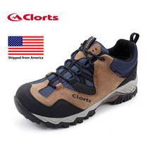Shipped From USA Clorts Men Hiking Shoes Genuine Leather Waterproof Outdoor Trekking Shoes Sport Sneakers HKL-826(China)