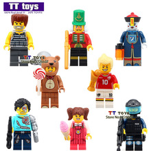 80pcs/lot 1502A Enlighten Multiclass Mini Dolls Zombies Fun Series Building Blocks Halloween Assembled Brick Baby Toys(China)