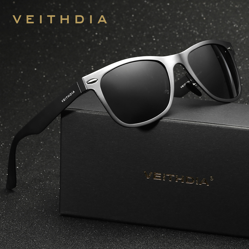 Image VEITHDIA Aluminum Magnesium Men s Mirror Sun Glasses Goggle Eyewear Female   Male Accessories Sunglasses For Women Men 2140