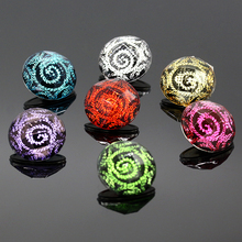 10 pcs/lot Multicolor Nebula Snap Buttons Plastic Buttons fit 18mm/20mm DIY Snap Bracelet Jewelry Making NA12-036(China)