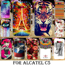 TAOYUNXI Soft TPU Hard Plastic Case Cover For Alcatel OneTouch One Touch pop c5 5036 OT5036 5036D Phone Case Cover Shell Cover(China)