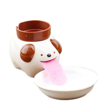 Cute Ceramic Cultivation Peropon Drinking Animal Planter Cute Animal Tongue Pot Ceramic Self Watering Planter(China)