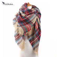 FLYMALL Winter Scarf 2017 Women Plaid Blanket Scarf Tartan Cashmere Scottish Scarf Acrylic Basic Shawl Women's Scarves and Wraps