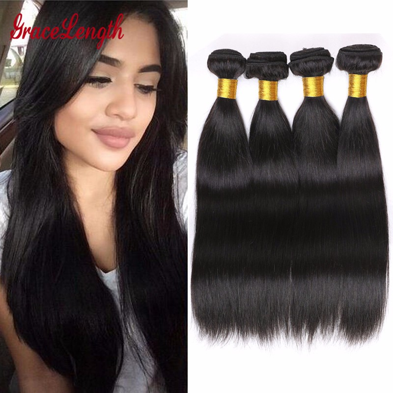 Gracelength Human Hair 1 PC Peruvian Virgin Hair Straight 7A Grade Virgin Unprocessed Human Hair Weave Virgin Hair Bundle Deals<br><br>Aliexpress