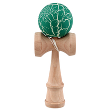Crack Paint Kendama Ball Skillful Juggling Game Ball Japanese Traditional Toy Balls Educational Toys For Children-green